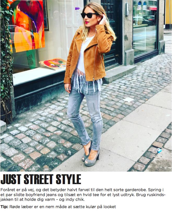 JUST street style m tekst